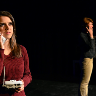 """Baptist Minister's Wife in Front and Center Stage's """"The Laramie Project"""" (dir. Steve Einhorn, 2015) Photo Credits: Dave Warner/Route 37 Photography"""